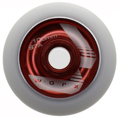 Worx Aluminium Hub Scooter Rad–rot