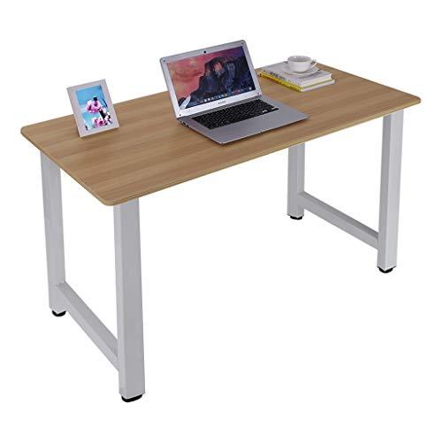 Gleamfut Escritorio de oficina, escritorio de escritorio, escritorio de estudio, marco de metal, mesa de trabajo, mesa de trabajo, 55 pulgadas
