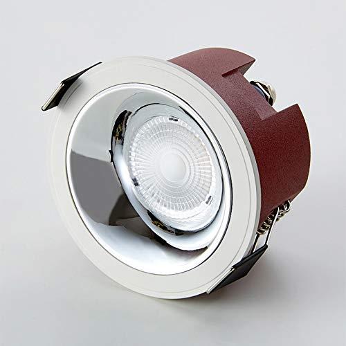 COB Spotlight LED Luz de Techo Embedded Downlight Ropa Tienda Comercial Agujero Luz Redonda Anti-Glamare No Flicker High Brillo No Glameroso Alto High CRI