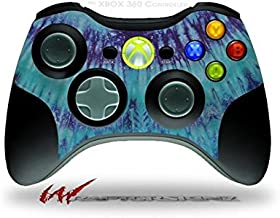 XBOX 360 Wireless Controller Decal Style Skin - Tie Dye Blue Stripes (CONTROLLER SOLD SEPARATELY)