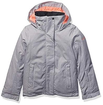 Roxy Snow Big Jetty Girl Solid Jacket, Heather Grey, 10/M