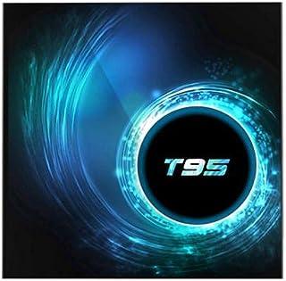 جهاز اندرويد تي في بوكس تى 95 4 جيجا رام ذاكرة 32 جيجا واي فاي ثنائي التردد 2.4/5 جيجا هرتز, بلوتوث نظام اندرويد 10 جوجل بلاي