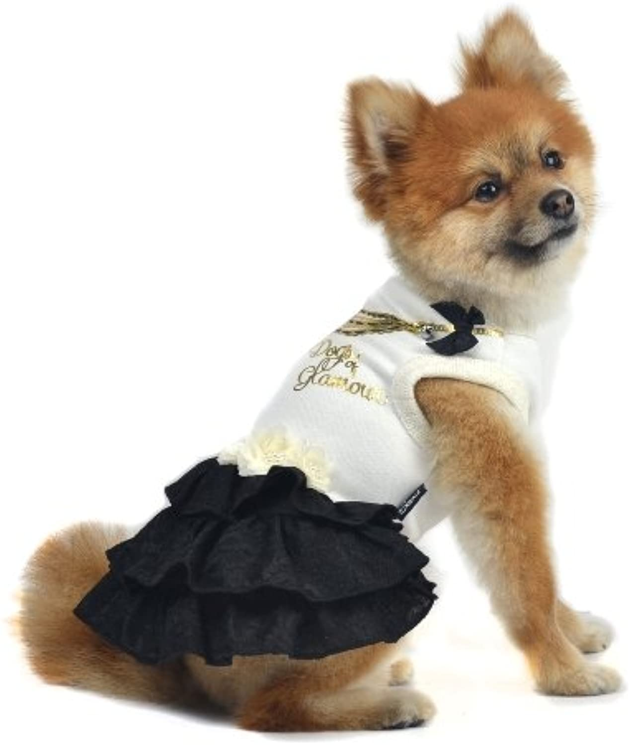 Dogs of Glamour Rodeo Drive Dress, Large, Black
