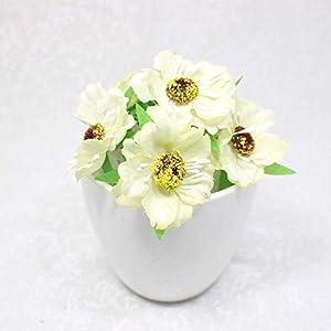 DSWJH Fake Flower Flower Heads Mini Silk Artificial Poppy Bouquet Wreath Scrapbook Wedding Decoration