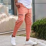 Pantalons Décontractés pour Hommes,Zipper Pockets Pencil Pants Joggers Pants Decoration Overalls Casual Pockets Men Fitness Exercise Pantalon De Grande Taille Pantalon pour Hommes Jogging Sweat Bot