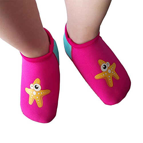 SUIEK Baby Boys Girls Swim Water Shoes Infant Pool Beach Sand Barefoot Aqua Socks (S (Sole...