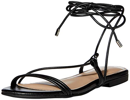 The Drop Women's Samantha Flat Strappy Lace-Up Sandal