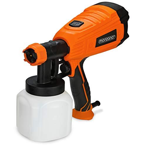 Monzana elektrisches Farbsprühsystem 800ml/min Behälter 500 W 3 Sprühmuster Farbsprühpistole Spritzpistole