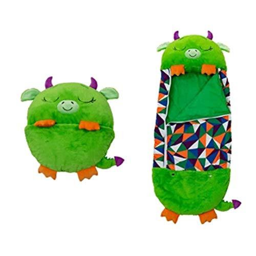 Spielkissen und Schlafsack, 2 IN 1 Cartoon Tiere Schlafsack Kissen, superweiche warme Kinderschlafsäcke, Kissenschlafsack Nickerchenkissen und Schlafsack für Kinder überraschen