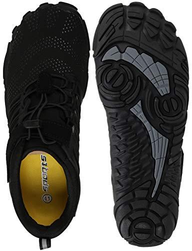 WHITIN Homme Femme Minimaliste Barefoot Shoes zéro Drop Chaussure Basket Five Finger Fivefinger 5...