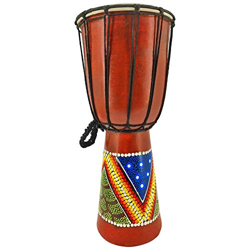 DJEMBE DRUM PAINTED (40CM)
