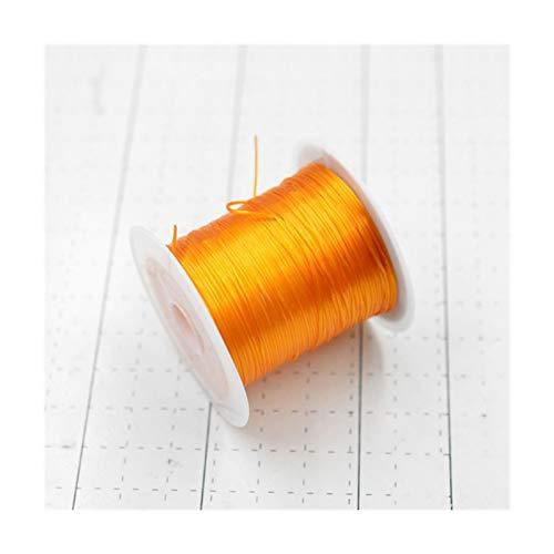 FENCHUN Negro 10m / Rollo Colorido Colorido Cuerda de Cuerda de Cuerda Cuerda de Cristal para joyería Que Hace Abalorios Pulsera de Hilo de Pesca Cuerda (Color : 018)