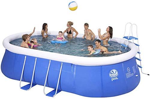 Ronde Enfants Famille Piscine Gonflable Piscine Extérieure À La Maison Piscine Adultes Enfants Épais Grand Ovale Pataugeoire Parc Aquatique
