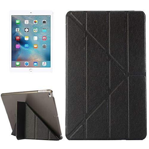 Ipad case For iPad 9.7 (2018) & iPad 9.7 (2017) & iPad Air Silk Texture Horizontal Deformation Flip Leather Case with Three-folding Holder(Black) Asun (Color : Green)