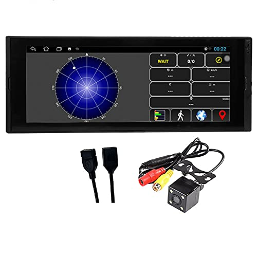 N\C 1 DIN Car Android Multimedia Player 6.9 Pollici Touch Screen Bluetooth Autoradio Stereo Video GPS WiFi Universal 1din Auto Radio con Fotocamera