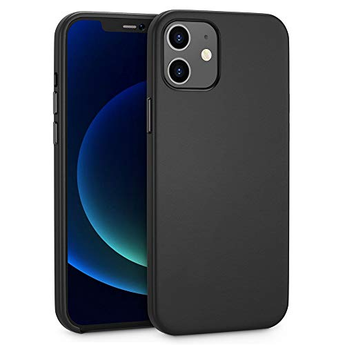 MOORICY Compatible with iPhone 12 Mini Case, Premium PU Leather iPhone 12 Mini Case 5.4Inch,Soft Microfiber Lining Protective Case (Black)