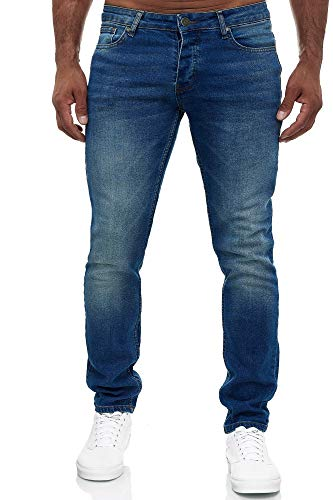 MERISH Jeans Herren Slim Fit Jeanshose Stretch Designer Hose Denim 502 (32-32, 502-2 Blau)