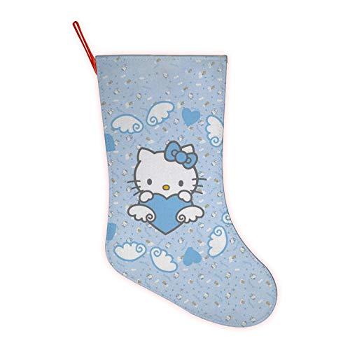 H-e-l-l-o K-i-t-t-yChristmas Socks Fireplace Decoration for Family Holiday Season Decor Xmas Gift Bags