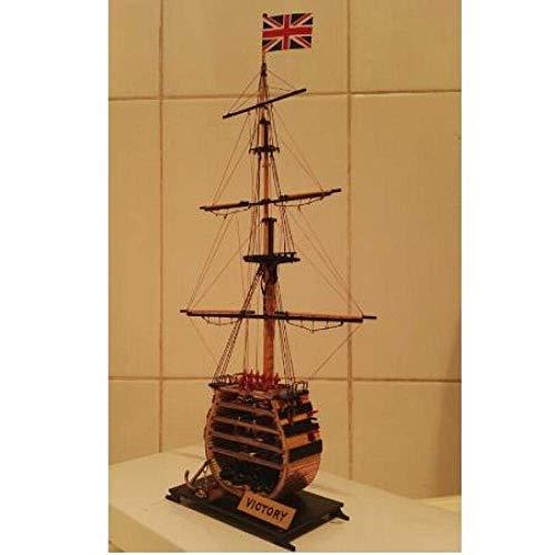 HYCy Velero Modelo 1/200 clásico británico Antiguo Mini sección Modelo de Barco 1778 HMS Victory Warship Modelo de Madera Incluye actualización de latón