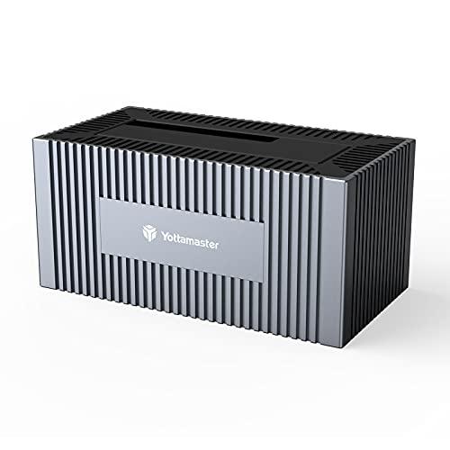 Yottamaster Bases de Conexión para Discos Duros[Soporte de 16 TB], Aluminio Estación de Acoplamiento SATA USB3.0 de 5 Gbps para SSD HDD de 2,5   3,5 , con Fuente de Alimentación de 12V2A [SO5]