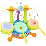 TONZE Drum Set Baby Musical Toys,Musical Instruments Toddler Toys for...