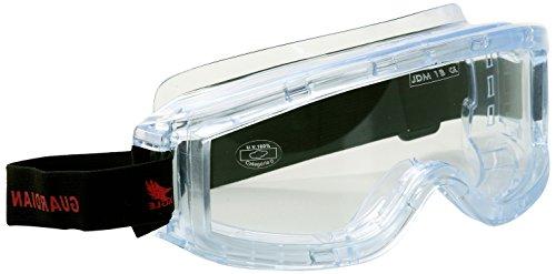 Eagle GUTRSG - Gafas de protección laboral con banda elastica ajustable y apta para llevar gafas graduadas debajo.