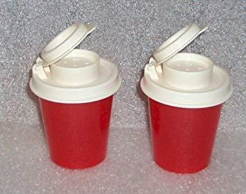Tupperware Salt and Pepper Shakers Mini Set, Red
