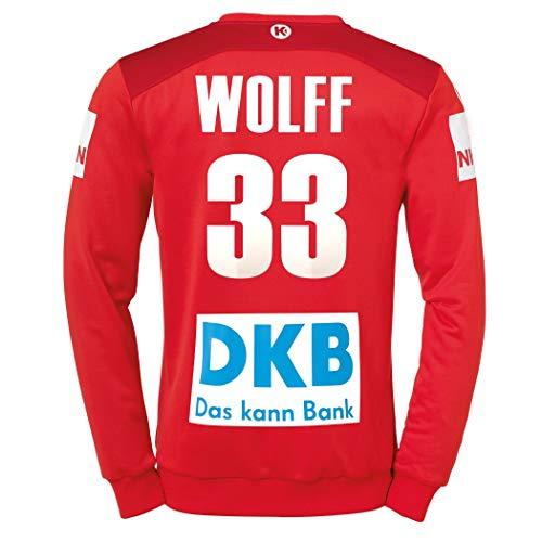 Kempa DHB Torwarttrikot rot Wolff 33 Nationalmannschaft Deutschland Handball WM 2019, Größe:128