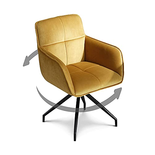 jiexi Light Luxury Home Study Office Chair Student sedentary Comfortable Desk chair,Fabric swivel armchair,computer chair, Thicker Bucket Seat (beige/gold)
