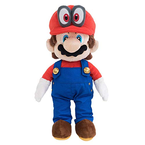 """Little Buddy 1693 Super Mario with Removable Red Cappy Hat (Odyssey Style) Plush, 13"""""""""""", Multicolor"""