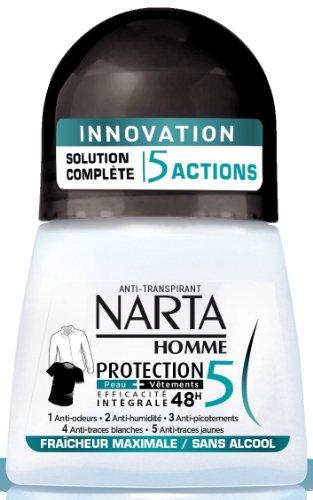 Narta Déodorant Protection5, fraîcheur maximale - Le roll-on de 50 ml