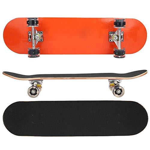 Allrad Short Board Skateboard, 2 Farben PU Gleitplatte Allrad Short Skateboard für Anfänger Erwachsene Teenager Kinder(Orange)