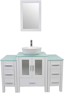 Best tempered glass bathroom countertop Reviews
