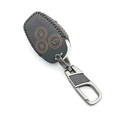ATMASDO Accesorios para llaves de coche Cubierta de cuero para llaves, para Renault Clio paisaje Megane Sandero
