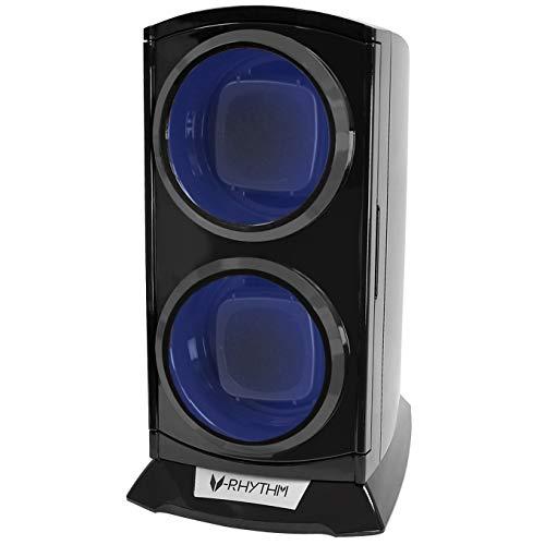 ベルソス ワインディングマシーン 縦型ツイン LEDライト付き ブラック 2本巻き VS-WW012 (ブラック)