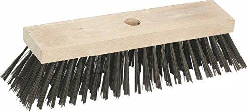 Triuso Stahldrahtbesen 30x7 cm 6-reihig Stahldraht 0-5 mm Besatzhöhe 70mm Drahtbürste Drahtbesen Stahlbesen Eisenbesen Kehrbesen