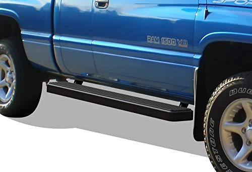 Nerf Bar | Side Steps | Side Bars Exclude 19 1500 LD HD Ridez Flat Style Running Board Black Compatible with Chevy Silverado GMC Sierra 1500 2019-2021 Regular Cab /& 2500 3500 2020-2021