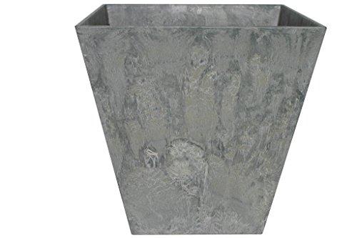 Artstone Pflanzgefäß Pflanzkübel Ella, frostbeständig und leichtgewichtig, Grau, 40x40cm