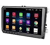 """Radio 2 DIN Android, Auto Head Unit 1 + 16G Pantalla táctil de 9""""para VW in Dash 2 DIN Car Radio Soporte Bluetooth, WiFi, FM, Video, Cámara de Respaldo, GPS, Mirror Link, Controles del Volante"""
