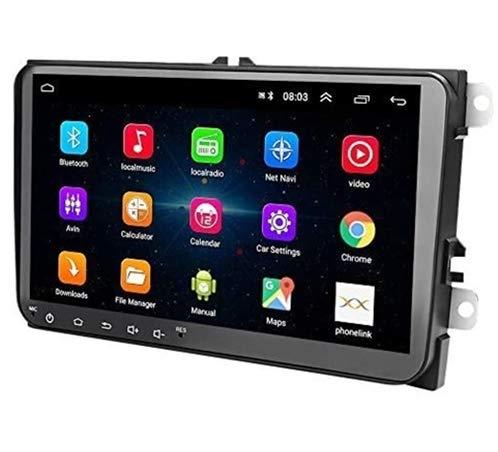 Radio 2 DIN Android, Auto Head Unit 1 + 16G Pantalla táctil de 9'para VW in Dash 2 DIN Car Radio Soporte Bluetooth, WiFi, FM, Video, Cámara de Respaldo, GPS, Mirror Link, Controles del Volante