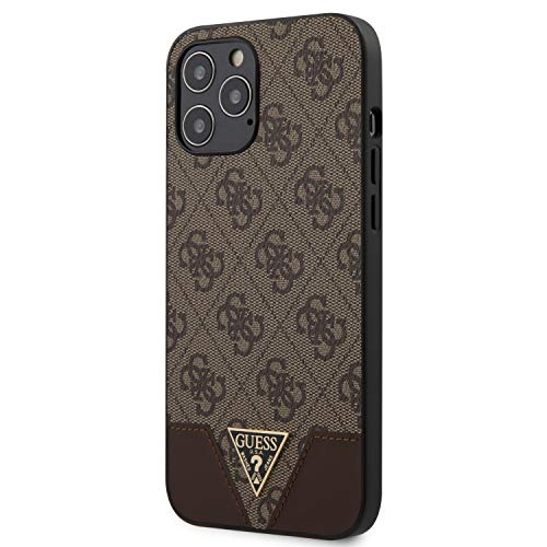 Guess GUHCP12LPU4GHBR 4G Triangle Collection Hülle für iPhone 12 Pro Max 6,7