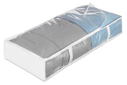 Whitmor INC 6044-75 Bolsa grande para almacenamiento bajo la cama, transparente, 6 piezas