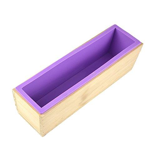 Mydio siliconen brood zeep maken mallen met hout doos voor zelfgemaakte zeep brood ambachten