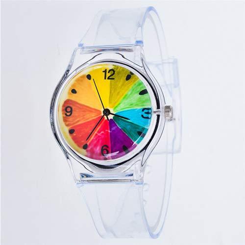 SHOUB Transparente Reloj de Silicona Reloj de Las Mujeres Deporte Relojes de...