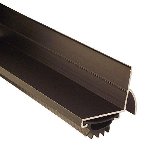Pemko 085589 210DV36 Door Shoe, Dark Bronze Finish with Black Eco-V Insert, 2' Width, 36' Length, Dark Bronze