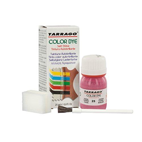Tarrago | Self Shine Color Dye 25 ml | Tinte Para Cuero y Lona de Acabado Brillante Para Teñir Zapatos y Accesorios | Tintura de Secado Rápido Para Reparar el Calzado | Anti Rozaduras (Fucsia 25)