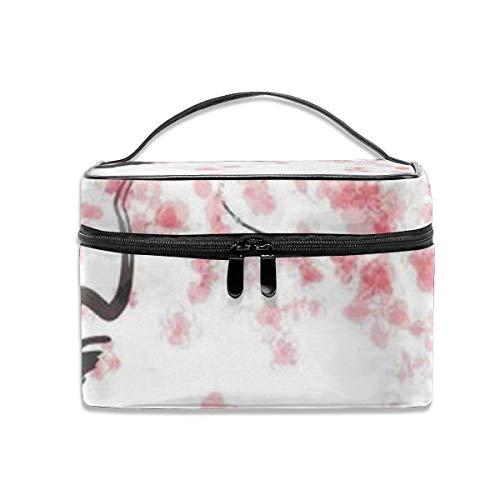 Organisateur de Cas de Voyage de Fleur de Cerisier Japonais Portable, Sacs de Toilette multifonctionnels