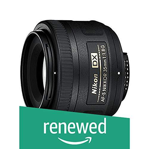 Nikon 35 mm f/1.8 AF-S DX Objektiv, Basis, schwarz, Nikon AF-S DX NIKKOR 35mm f/1.8G Lens with Auto Focus (Generalüberholt)