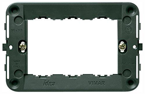 VIMAR 0R16713 Idea Supporto, Viti, per scatole 3 Moduli, Grigio
