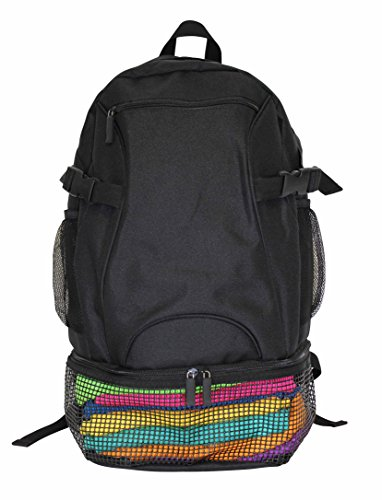 Cona Sac à dos Backpack Mesh, Schwarz, taille unique